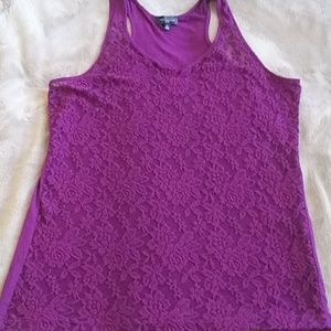 Lace, tank, unlined